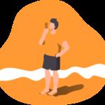 Essay on Beach in Sanskrit