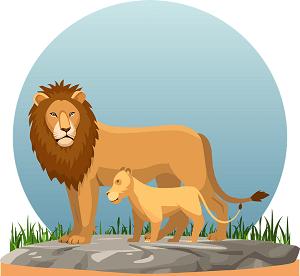 Essay on Lion in Sanskrit