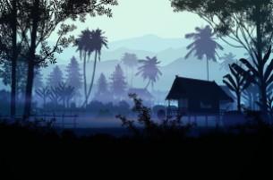 Picture description of a Village