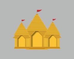 Short picture description on Temple in Sanskrit