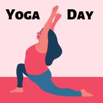 Picture description of Yoga Day in Sanskrit