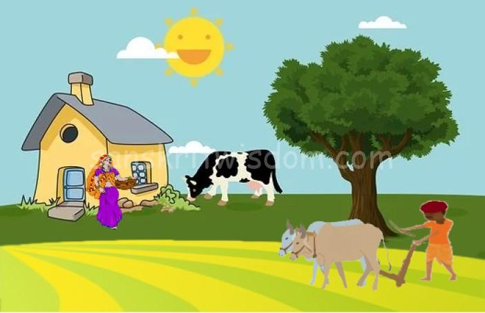 Essay on Farmer in Sanskrit